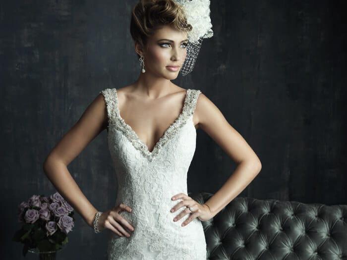 שמלת כלה מעוצבת בסגנון וינטאג'