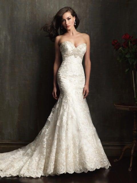 שמלת כלה בסגנון בתולת ים