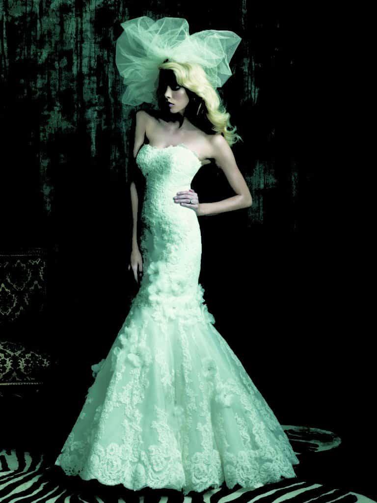 שמלת כלה סטרפלס צמודה