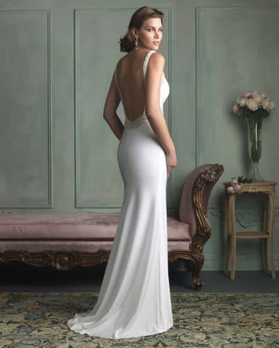 שמלת כלה וינטאג' עם גב פתוח
