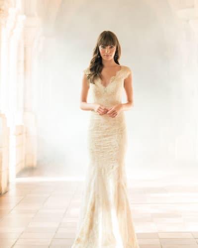שמלת כלה עם מחשוף וי