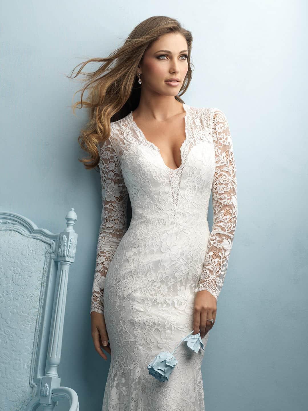 שמלת כלה קלאסית עם שרוול ארוך