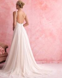 שמלת כלה קלאסית עם גב חשוף