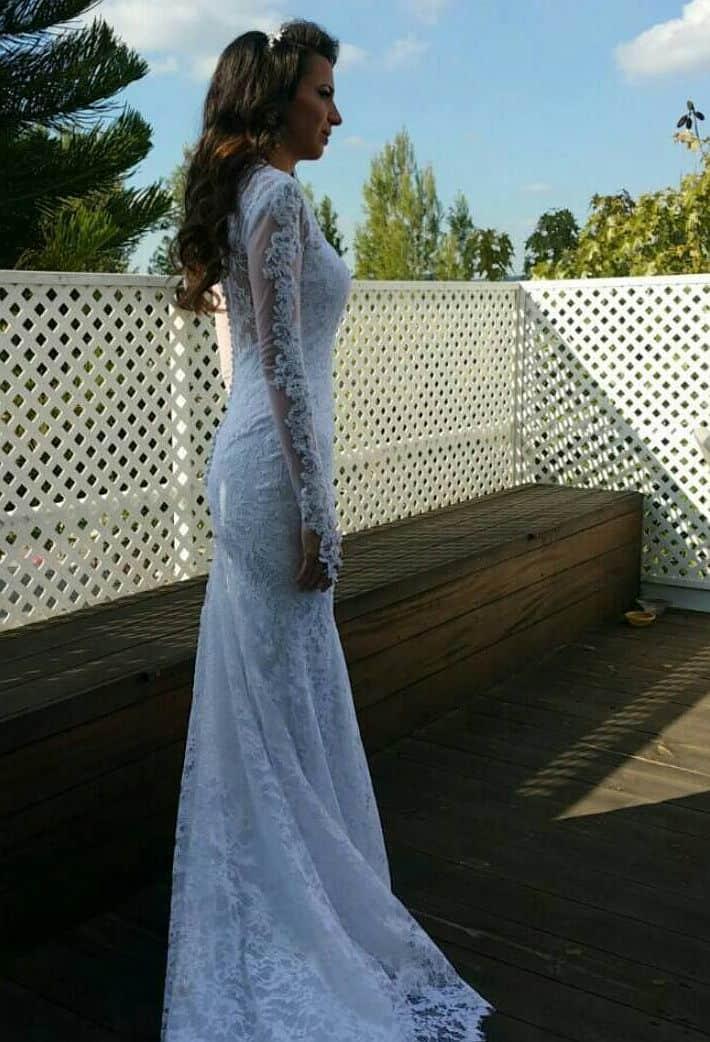 שמלת כלה רומנטית יוקרתית