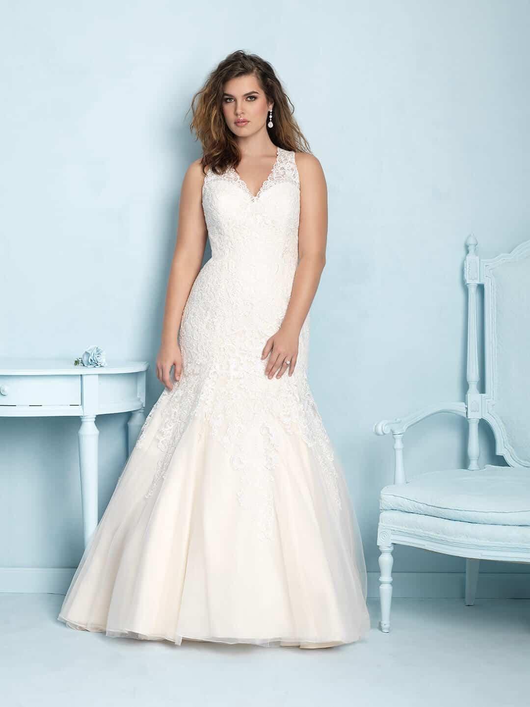 שמלת כלה עם מחשוף למידות גדולות