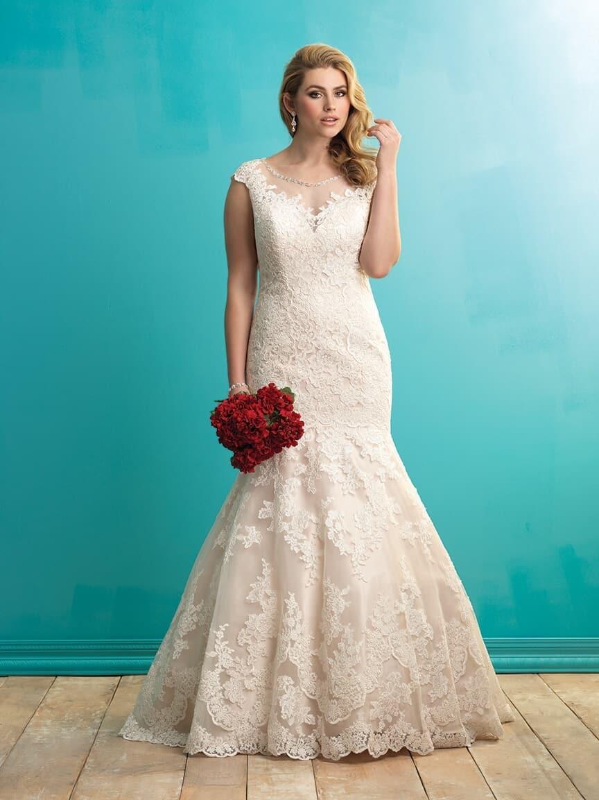 שמלת כלה תחרה במידות גדולות