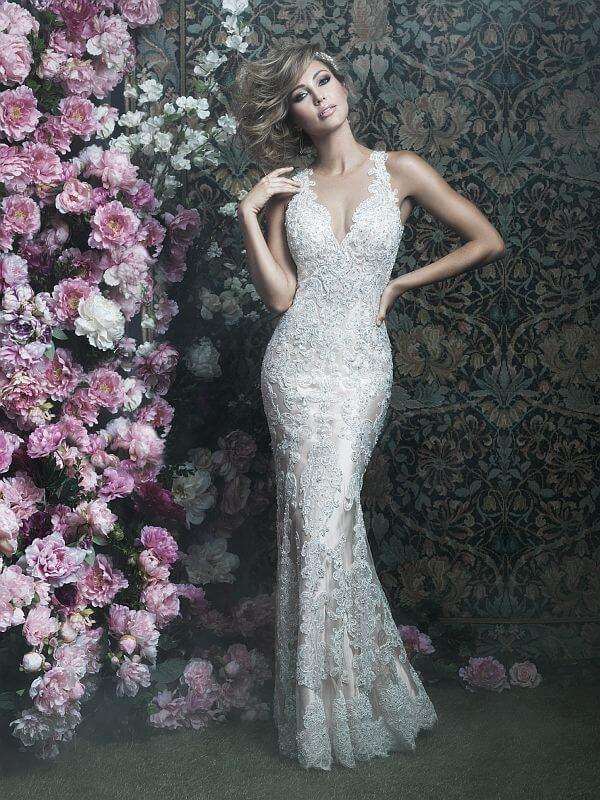 שמלת כלה תחרה אלגנטית