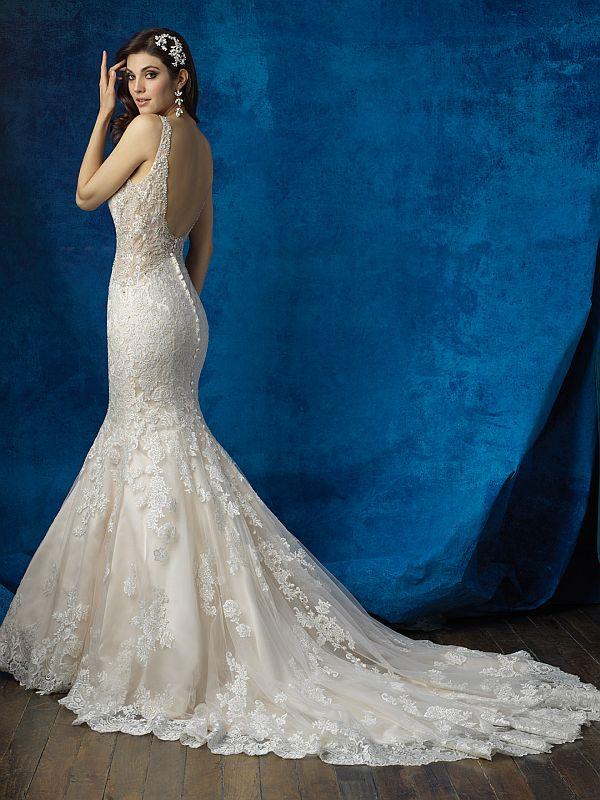 שמלת כלה ארבנית עם גב פתוח