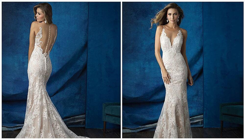 שמלת כלה עם מחשוף קדמי ואחורי