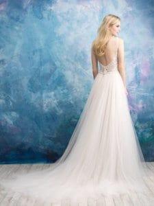 שמלת כלה טול גב חשוף