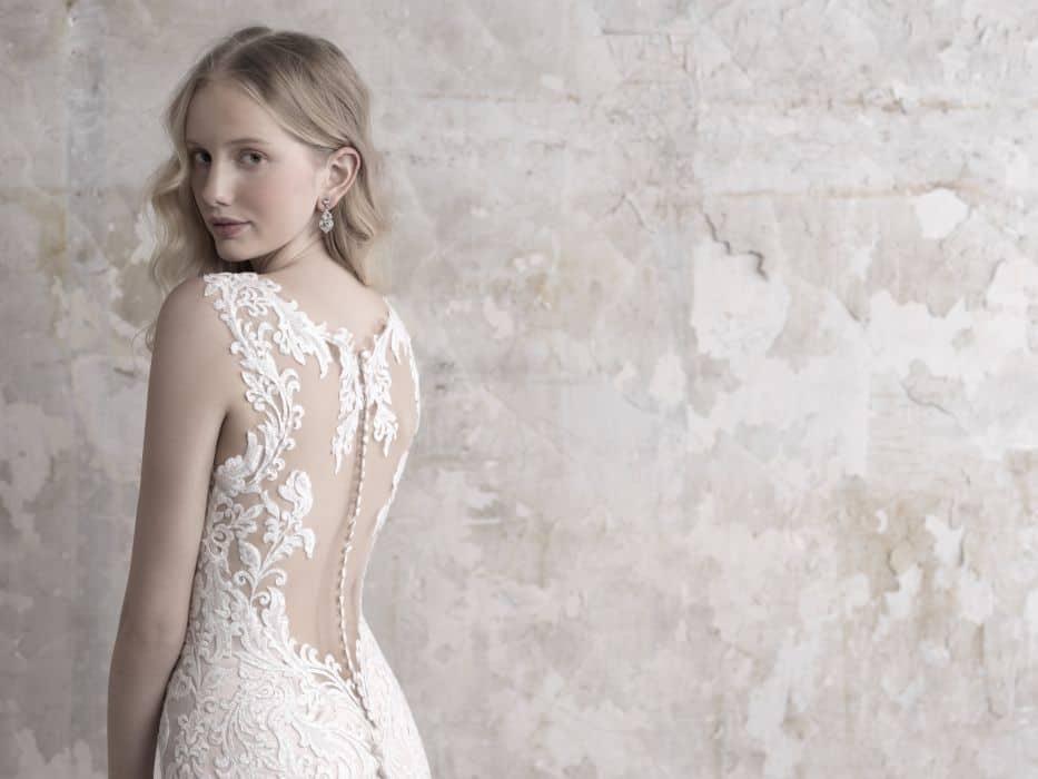 שמלת כלה צמודה בדי אילוז'ן
