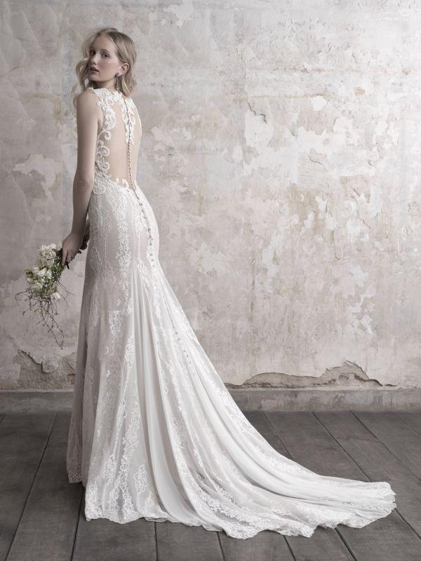 שמלת כלה תחרה ושיפון