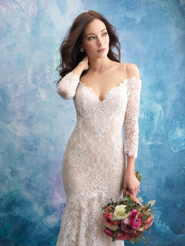 שמלת כלה תחרה צמודה